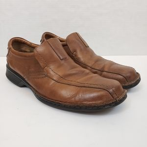 Clarks Escalade Step Brown Loafers Soft Cushion